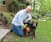 Nicolas Duvernois et son chien Roméo.