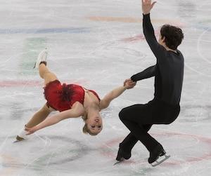 Julianne Séguin et Charlie Bilodeau ont livré une performance qui les assure d'au moins une neuvième place à leurs premiers Jeux olympiques.