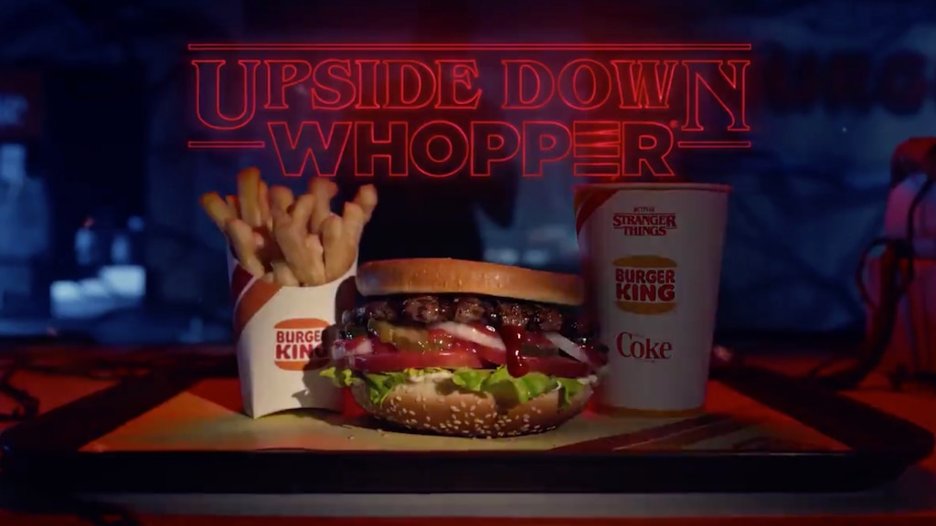 Burger King a maintenant un Whopper «Upside Down» pour les fans de Stranger Things