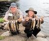 Serge et Lynda Lyonnais ont capturé leur limite de mouchetées en moins de 90minutes à la pourvoirie Aventure Nature Okane.