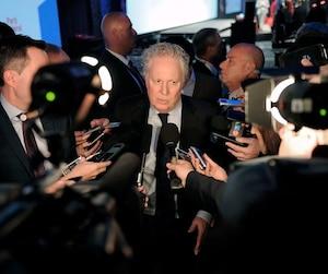 Dans son discours devant les militants réunis en congrès à Québec samedi soir, l'ancien premier ministre a usé d'un ton badin pour dénoncer les informations publiées dans les médias au sujet de l'enquête Mâchurer, sur un possible financement illégal du PLQ à l'époque où il était chef.