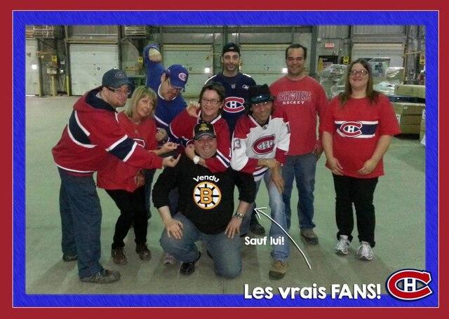 Patrick, Marjo, Serge, Lyne, Dany, Claude, Ghislain & Judith Le vendu c'est Benoit ! Le centre de distribution des magasins Hart