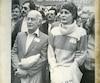 Le premier ministre et sa femme, Corinne Côté, photographiés en 1982.