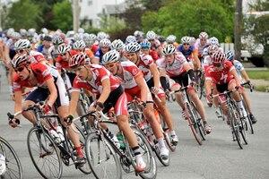 Les coureurs au Tour de l'Abitibi, l'an dernier.