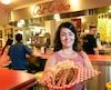 La propriétaire du restaurant Pat Rétro, Priscilla Morin.