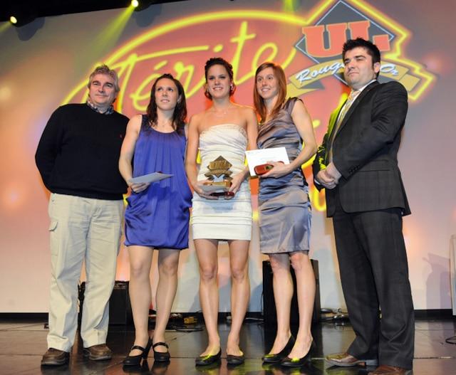 61e Gala du Mérite sportif Rouge et Or de l'Université Laval mardi le 10 Avril 2012 à Quebec. SIMON CLARK/JOURNAL DE QUEBEC/AGENCE QMI