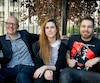 Les réalisateurs québécois Yoann-Karl Whissell, Anouk Whissell et François Simard.