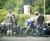 Un membre des Minotaures de «West Montreal», un club de motards qui a fait son apparition récemment.