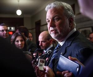 Le premier ministre du Québec Philippe Couillard