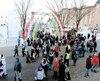 Les carnavaleux ont profité d'un week-end ensoleillé pour venir en grand nombre découvrir les nouveautés du 65e Carnaval de Québec.