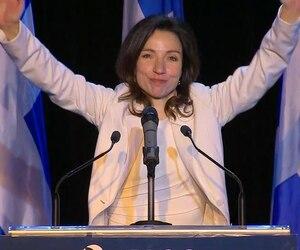 Mme Ouellet est devenue la cinquième chef du parti.