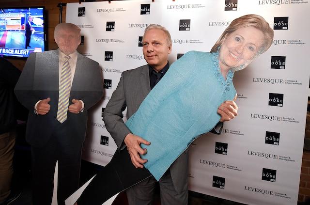 Regroupement pour les élections américaines organisé par La Dose à l'Inox. Sur la photo: Le chef du PQ Jean-Francois Lisée.
