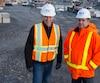 Daniel Genest (à gauche) et André Mylocopos auront un emploi du temps chargé dans les prochaines années. La construction d'un pont Champlain tout neuf en 30 mois leur met une «pression incroyable».