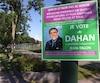 La pancarte ciblée se trouvait dans le secteur du parc Saint-Benoît, à Sainte-Foy.