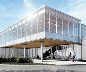 Maquette du futur siège social de Panthera Dental qui sera installé dans l'Espace d'innovation Chauveau et dont la construction a officiellement débuté mardi.