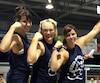 Marie-Audrey Ross, Josée Morneau et Josiane Boulet se sont classées 2<sup>e</sup>, 1<sup>re</sup> et 3<sup>e</sup> aux épreuves féminines du Festi-Force 2016 à Saint-Jean-de-Matha.