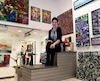 Esther Garneau, artiste et propriétaire de la Galerie Zen, a déménagé de Lac-Beauport pour venir s'installer en plein cœur du Vieux-Québec, sur la rue Saint-Jean.