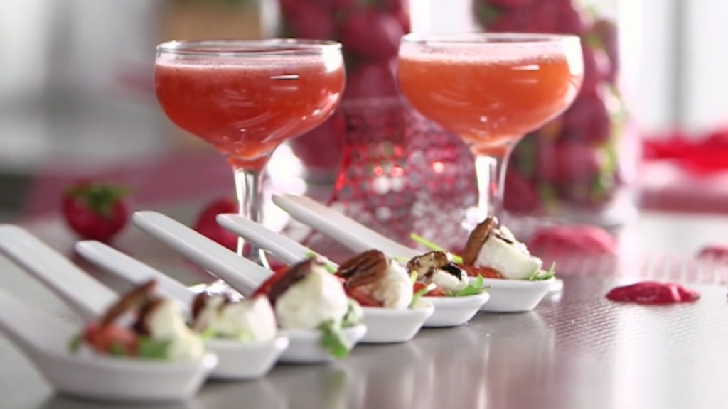 Spritz d'amour et bouchées de la Saint-Valentin