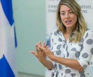 La ministre fédérale de la Francophonie, Mélanie Joly