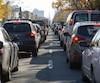 Bloc congestion routière circulation Montréal