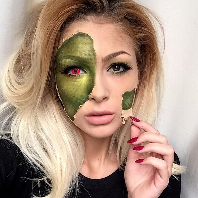 maquillage halloween original femme