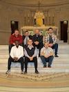 Roger Leblanc, 50 ans, Mathieu Neni, 22 ans, François Pepin, 30 ans, Claude St-Denis, 27 ans, Claude Ngodi, 35 ans, Jesus Vales, 25 ans, et leur professeur Guy Guindon, 52 ans.