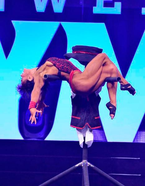 Myriam Capes aux épreuves Olympia Fitness de La Vegas et du Arnold Classic Europe.