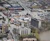 Une vue aérienne du secteur de Pierrefonds