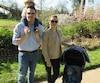 Ariane Élie-Desjardins, Vincent Dupuis et leurs deux enfants âgés de 2 ans et demi et 7 mois.