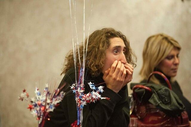 Réaction des électrices à Mancheste au New Hamshire.  AFP PHOTO / Ryan McBride