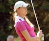 Maude-Aimée LeBlanc est au 16e rang de la Coupe Canada avec sept autres joueurs, affichant un cumulatif de -6.