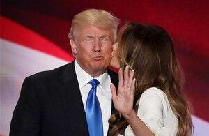 Trump s'assure que sa femme vote pour lui