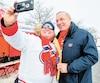 Au grand bonheur des partisans du Canadien, Guy Lafleur a participé à l'inauguration de la 10e patinoire communautaire du CH, mardi à Trois-Rivières.