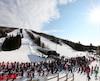De nombreux skieurs et planchistes ont profité du beau temps, samedi, pour prendre d'assaut les pentes du Relais, à Lac-Beauport. À l'image des autres stations de ski du Québec, cet endroit connaît une de ses meilleures saisons.