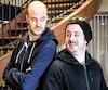 Emmanuel Bédard et Charles-Étienne Beaulne font partie de la distribution de la pièce <i>Les Meilleurs amis du monde</i>, présentée à partir de mercredi au Théâtre Petit-Champlain.