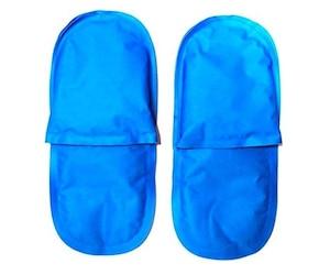 Les chaussons refroidissants réutilisables de Rapid Relief