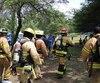 Une quinzaine de pompiers ont pris part dimanche, le 17 juin 2018, à la Marche du Courage dans le parc du Mont-Royal afin de réclamer que le cancer de la prostate soit reconnu comme une maladie professionnelle