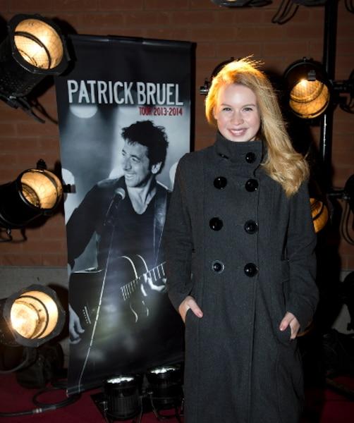 Valérie Carpentier lors du tapis rouge avant le spectacle du chanteur Patrick Bruel au Centre Bell de Montréal.