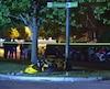 Le motocycliste a été transporté à l'hôpital.