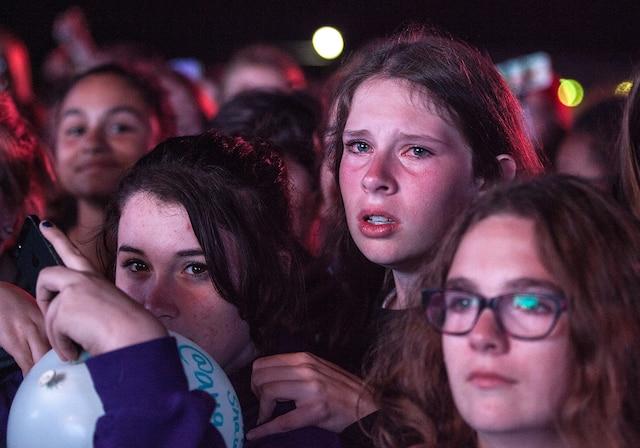 Le chouchou du public semblait heureux de se retrouver sur scène au Festival international de montgolfières.