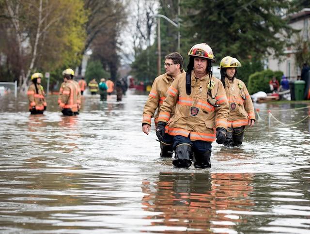 Inondations sur le territoire de l'île Bizard, à Montréal.