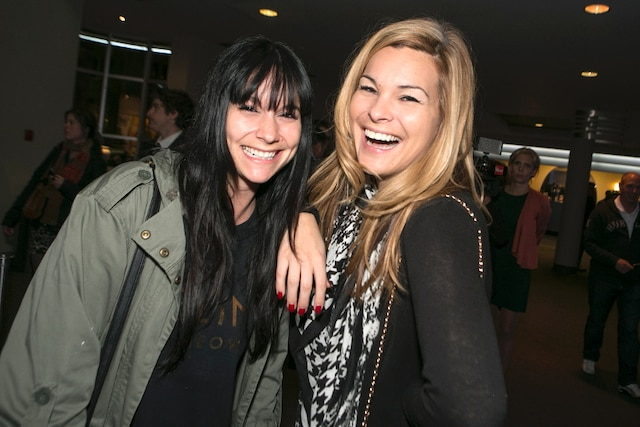 Amélie B Simard et Kim Ross sont venus applaudir le duo Dominic et Martin lors de la soirée de première de leur nouveau spectacle intitulé Fou.