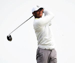 Tiger Woods se fait la main au club Royal Portrush depuis le week-end dernier.