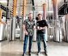 Le président Enrico Bouchard et le distillateur Martin Brisson.