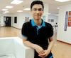 Aram Mansouri dans un local du collège Vanier où il révise souvent.