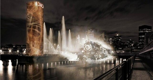 Le spectacle Avudo utilise les eaux du Fleuve comme canevas multimédia.