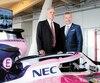 Le patron de la F1, Chase Carey, et le promoteur du Grand Prix du Canada, François Dumontier, ont inauguré mercredi les nouvelles installations au circuit Gilles-Villeneuve.