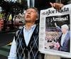 Un vendeur de journaux de Mexico célèbre la victoire du candidat Andrés Manuel López Obrador, qui ajoutera un nouveau degré d'incertitude concernant l'ALENA.