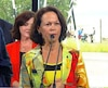 La candidate libérale Gertrude Bourdon