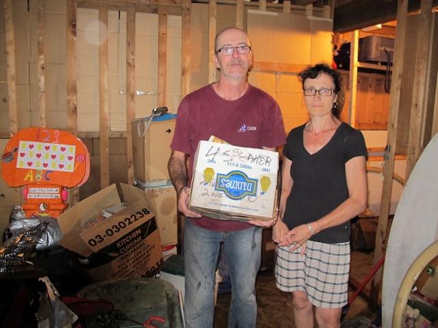 Michel Charland a vu son sous-sol inondé, mardi soir, en raison des fortes pluies qui se sont abattues sur la région.